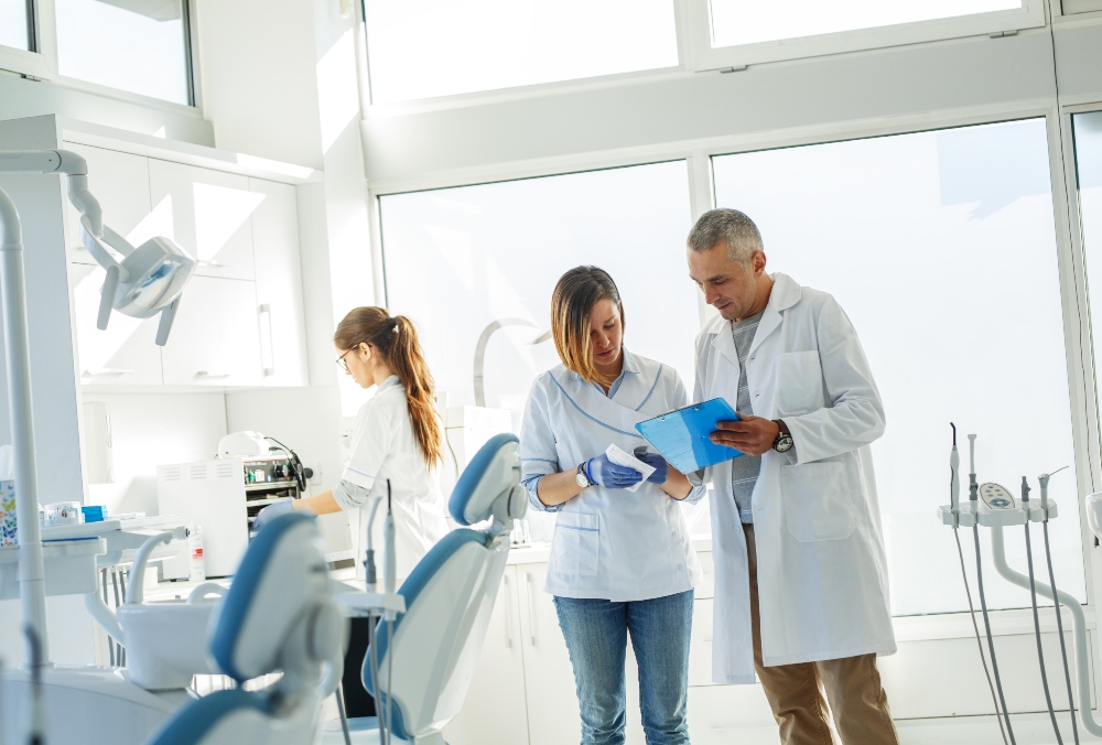 Maximizing space in dental office